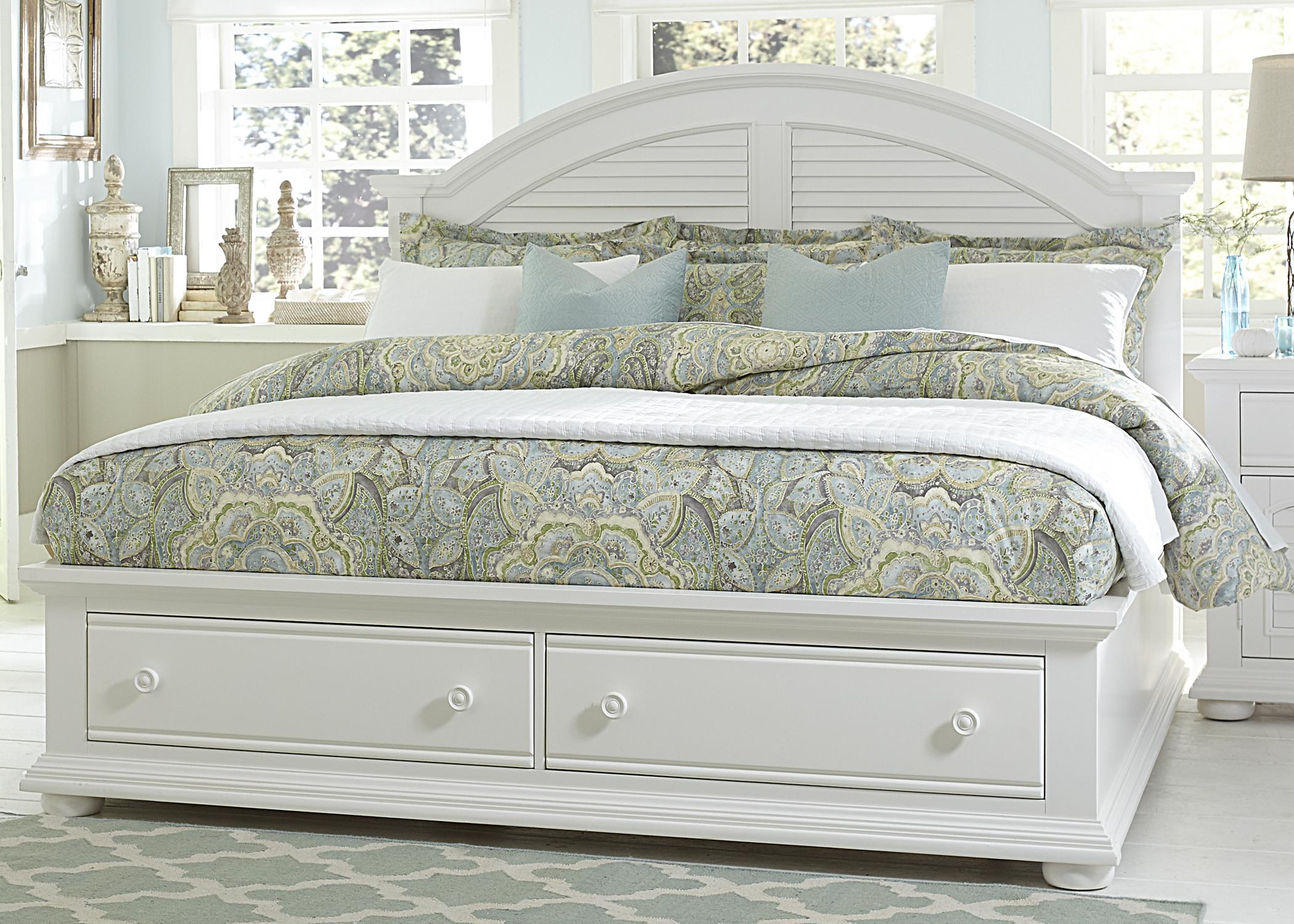 Cottage Queen Bed with Storage Footboard by Liberty Furniture | Wolf ...