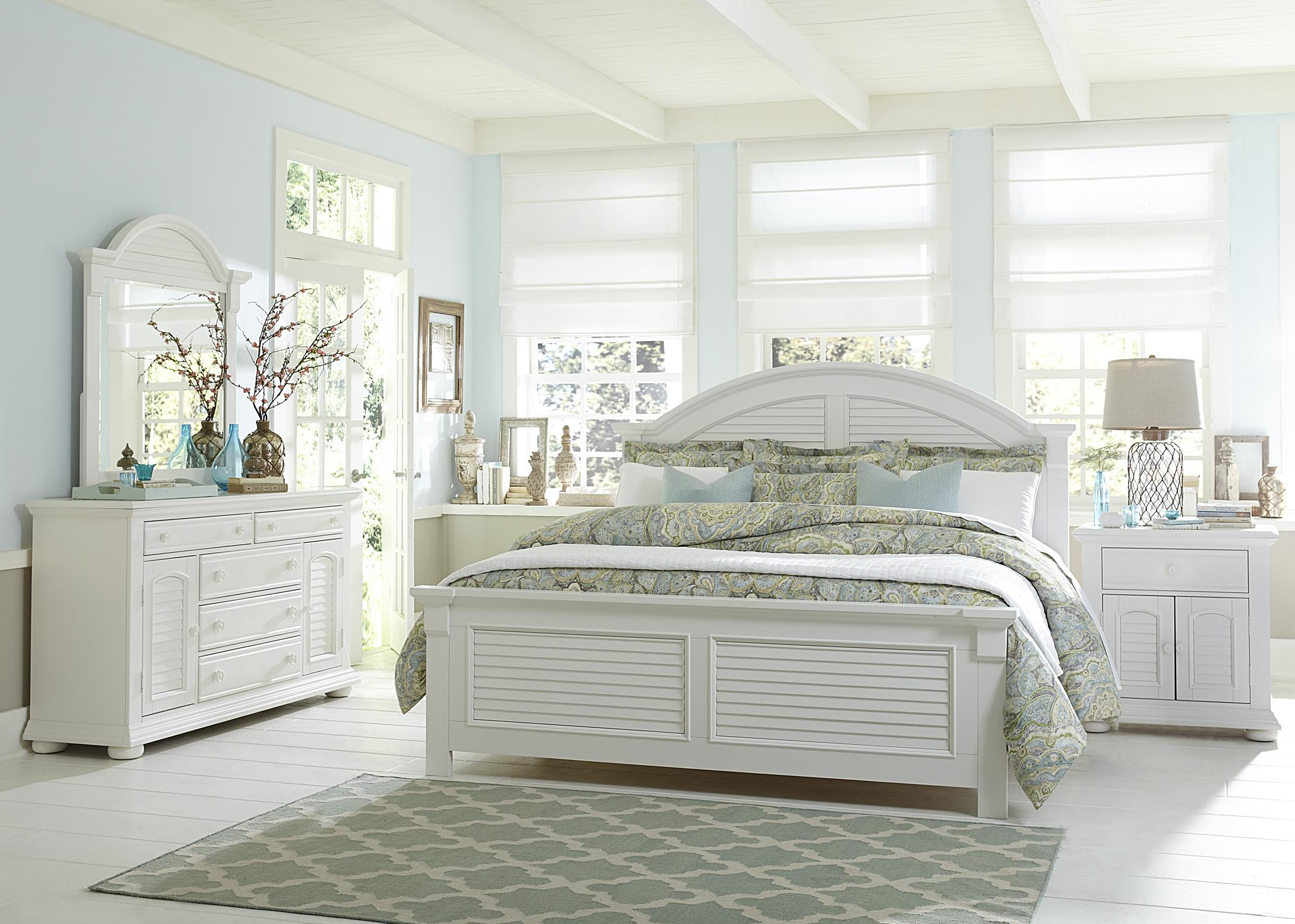 Louvered Bedroom Furniture Louvered 2 Door 1 Drawer Night Stand By Liberty Furniture Wolf
