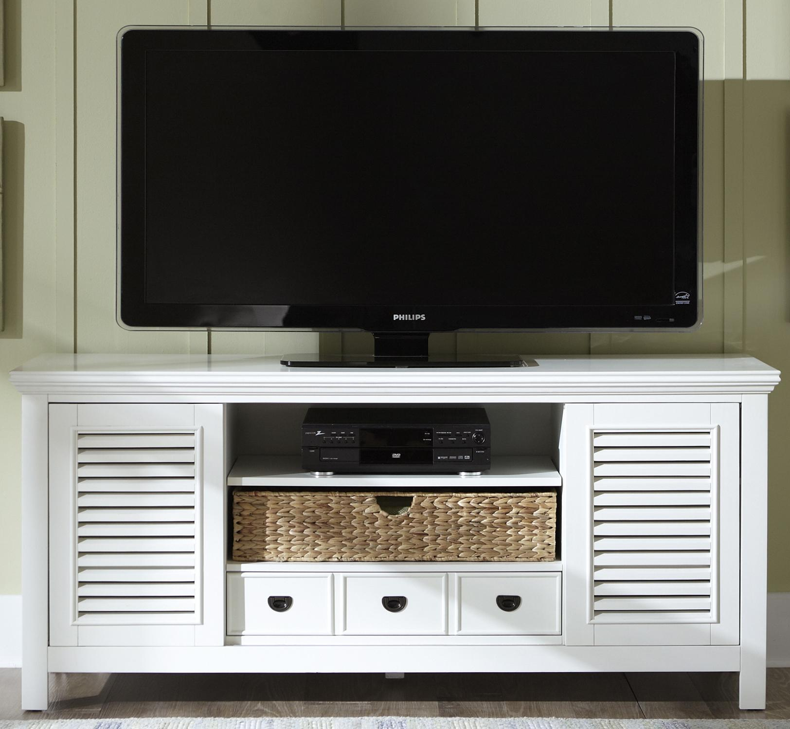 Entertainment Tv Stand With Drawer Sliding Doors And Adjustable
