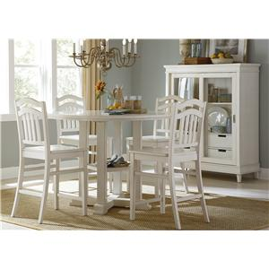 Five-Piece Counter Height Gathering Table and Stool Set