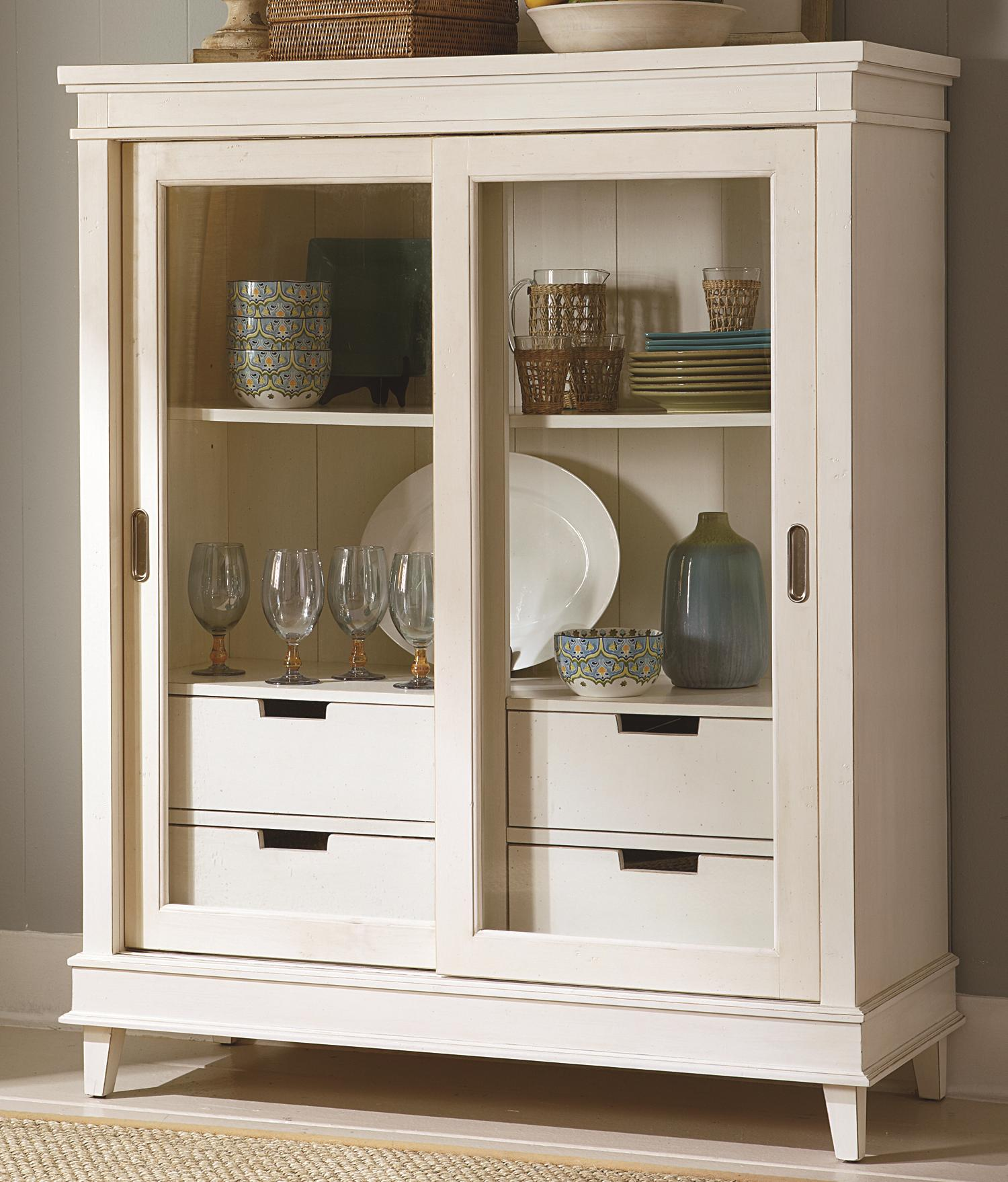 Sliding Door China Display Cabinet By Liberty Furniture Wolf And