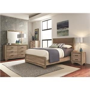4pc Bedroom Group Includes QN Bed, Dresser, mirror and Nightstand