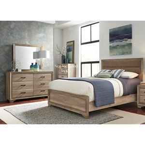 Twin Uph Bed, Dresser & Mirror