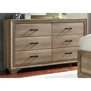 Dresser with 6 Dovetail Drawers