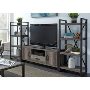 Contemporary Entertainment Center with Piers