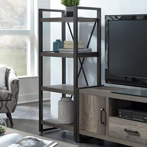 Contemporary Pier Unit with Floating Shelf Design