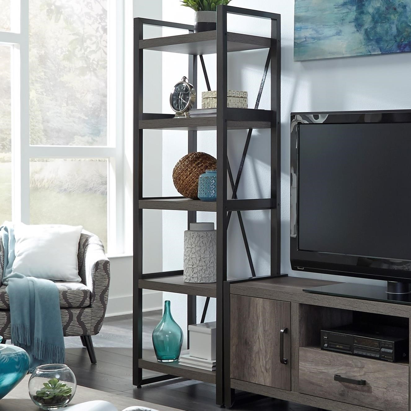 Contemporary Tall Pier Unit with Floating Shelf Design