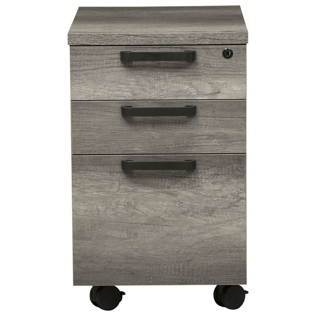 Contemporary File Cabinet with Locking File Drawer