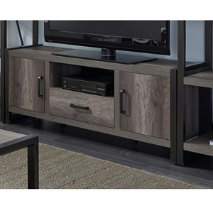 Contemporary Entertainment TV Stand with Open Media Compartment