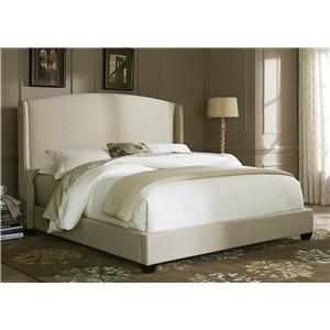 king upholstered shelter bed