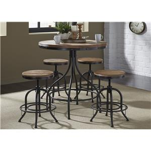 5-Piece Counter Height Pub Table and Bar Stool Set
