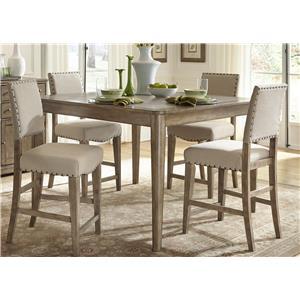 Liberty Furniture Weatherford  5 Piece Gathering Table Set