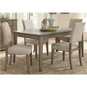 Liberty Furniture Weatherford  5 Piece Rectangular Table Set