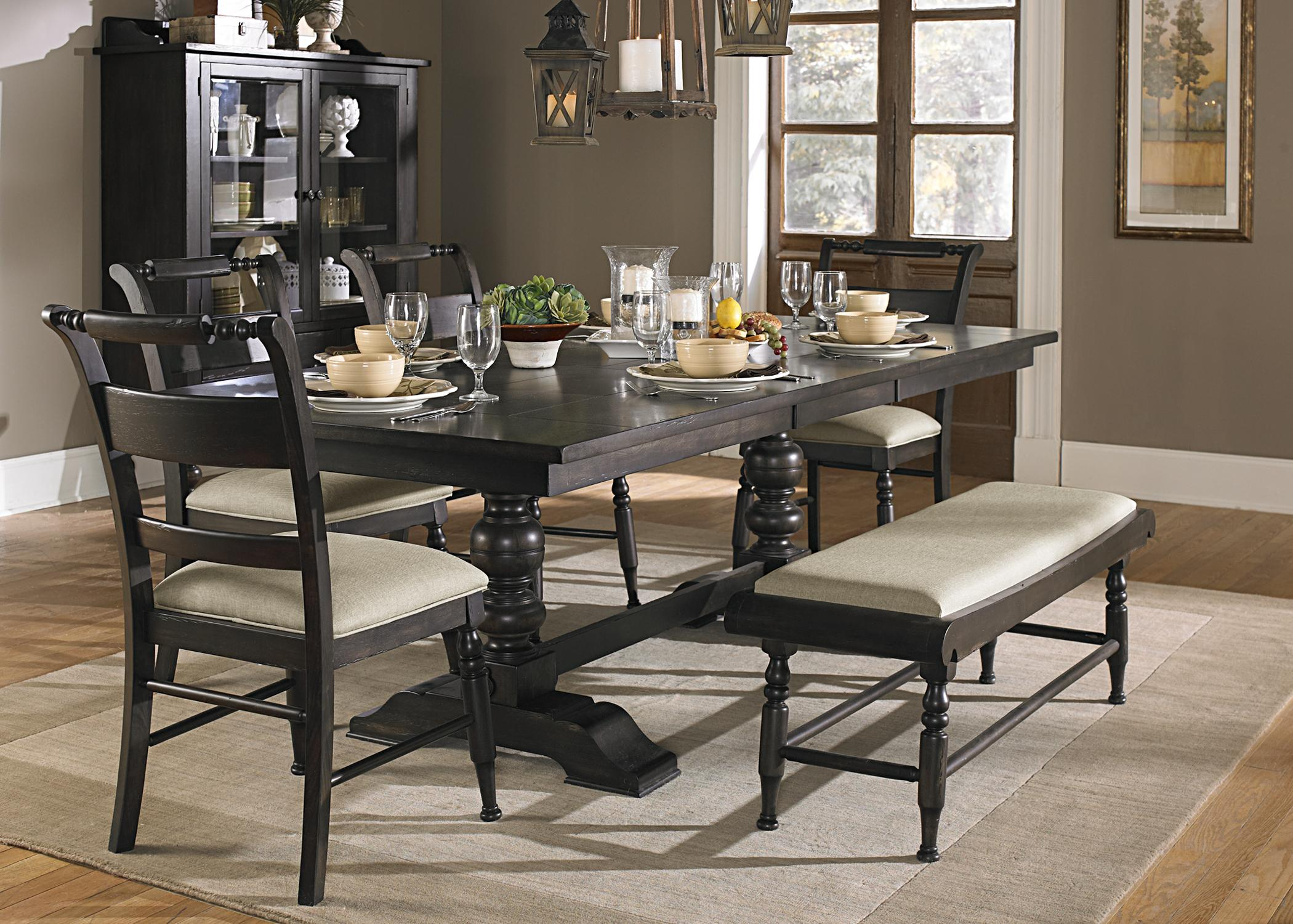6 Piece Trestle Table Set with Bench by Liberty Furniture
