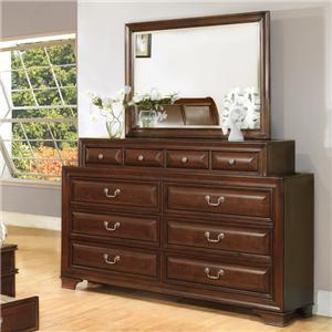 Lifestyle 1192 Dresser & Mirror Set