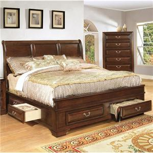 Lifestyle 1192 Queen Panel Bed with Storage