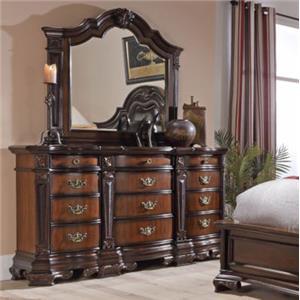 Lifestyle 4258A Dresser and Mirror Set