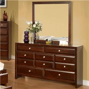 Lifestyle 9180 Dresser and Mirror Combination
