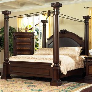Lifestyle 9218 Bedroom King Canopy Bed