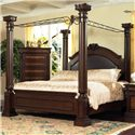 Lifestyle 9218 Bedroom King Canopy Bed - Item Number: C9218A-KP0+X3+PF+XH+XP+XV+XW
