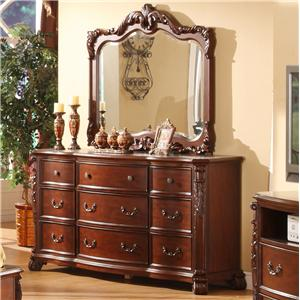 Lifestyle 9642 Dresser and Mirror Set