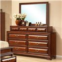 Lifestyle B1172 Dresser and Mirror Set - Item Number: C1172A-040+050