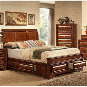 Lifestyle B1172 Queen Captain's Bed