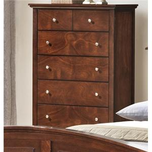 Lifestyle C3136A Bedroom 5 Drawer Chest