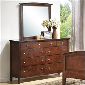 Lifestyle C3136A Bedroom Dresser & Mirror