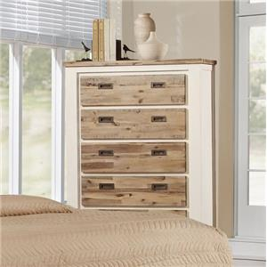 Lifestyle C347 Chest W/ Full Extension Drawer Glides, 5 Dra