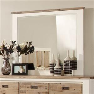 Lifestyle Tommy Two-Tone Dresser Mirror w/ Wood Finish Frame