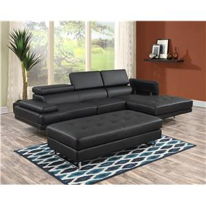 Lifestyle U2376S Contemporary Sectional Sofa