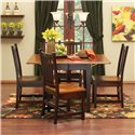 Solid Maple Drop Leaf Table & Chair Set