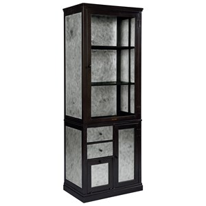 Metal Storage Cabinet with Glass Door