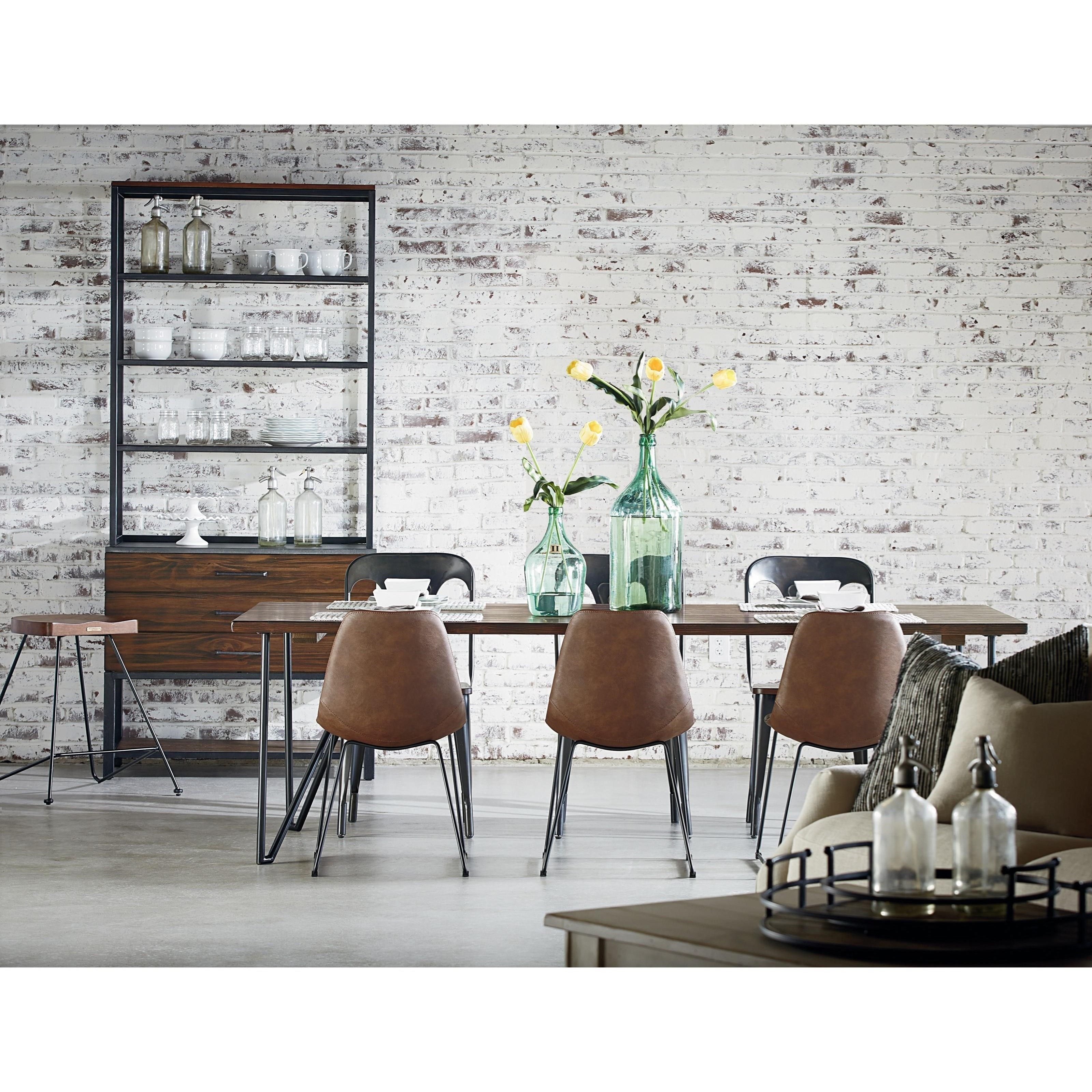 6 u0027 hairpin dining table with metal hairpin legs by magnolia home
