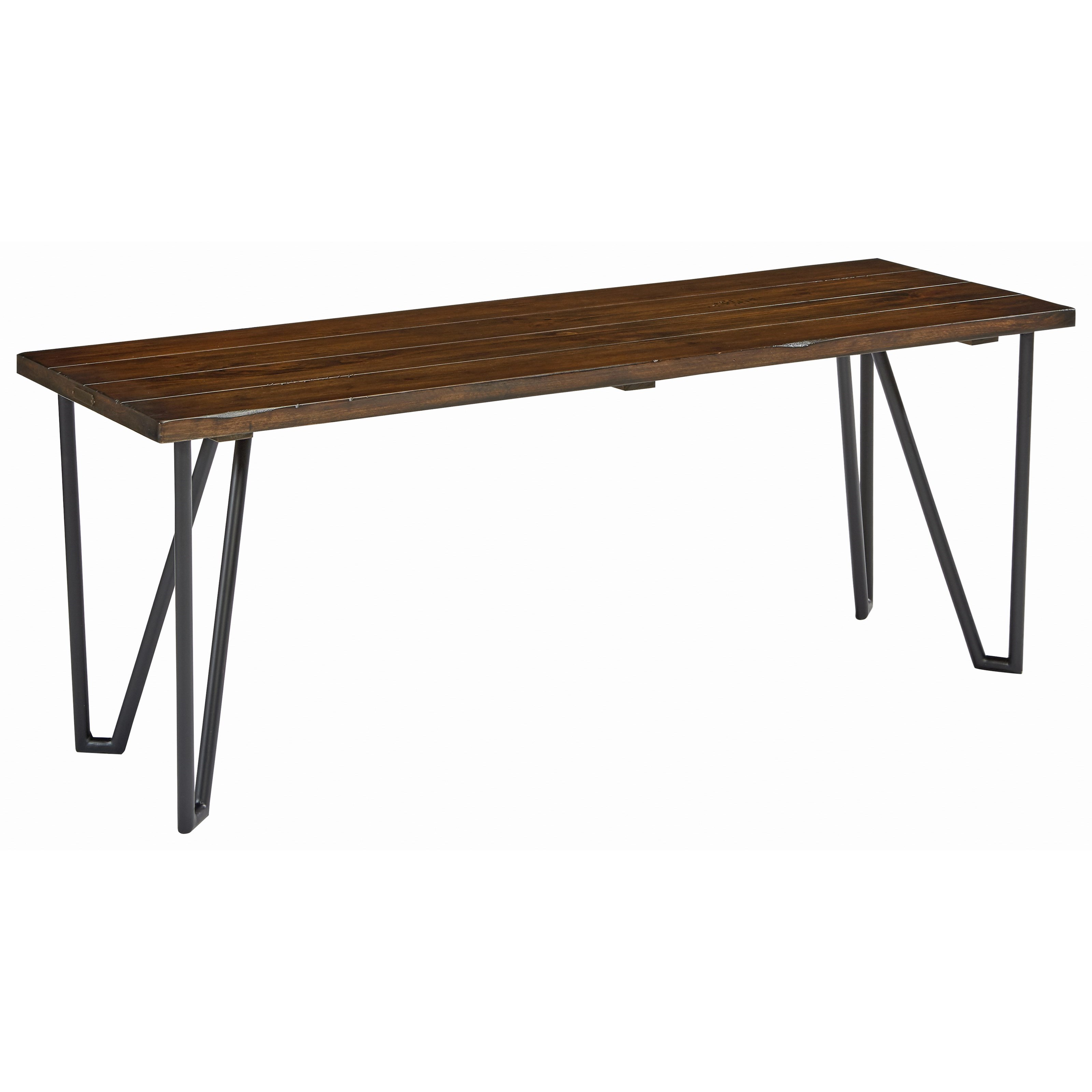 """50"""" Hairpin Bench with Open Slat Top by Magnolia Home by Joanna"""