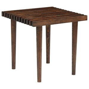 Slat End Table with Tapered McCobb Style Legs