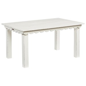 Kid's Table with Scalloped Trim and Square Legs