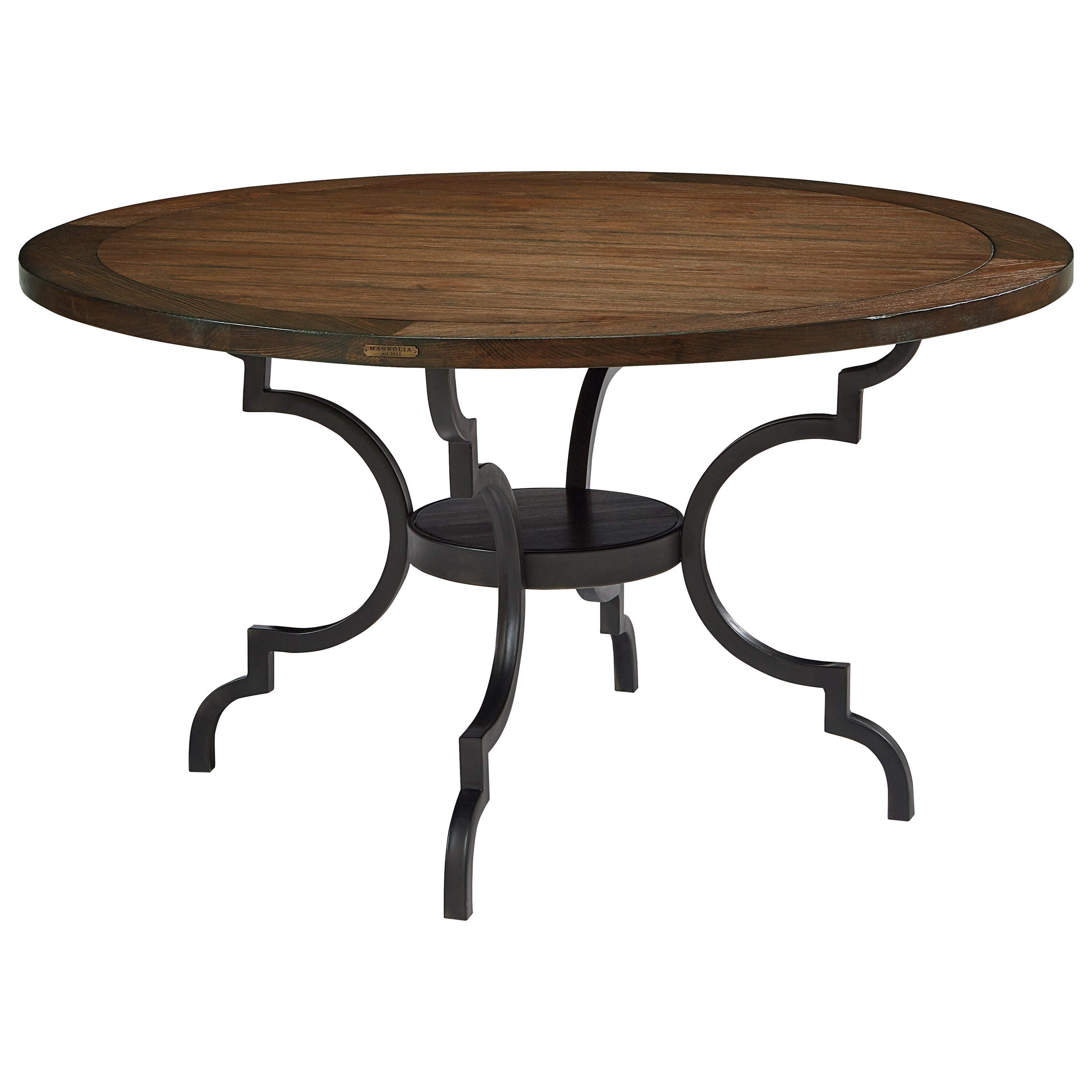 breakfast table wood top w metal base by magnolia home by