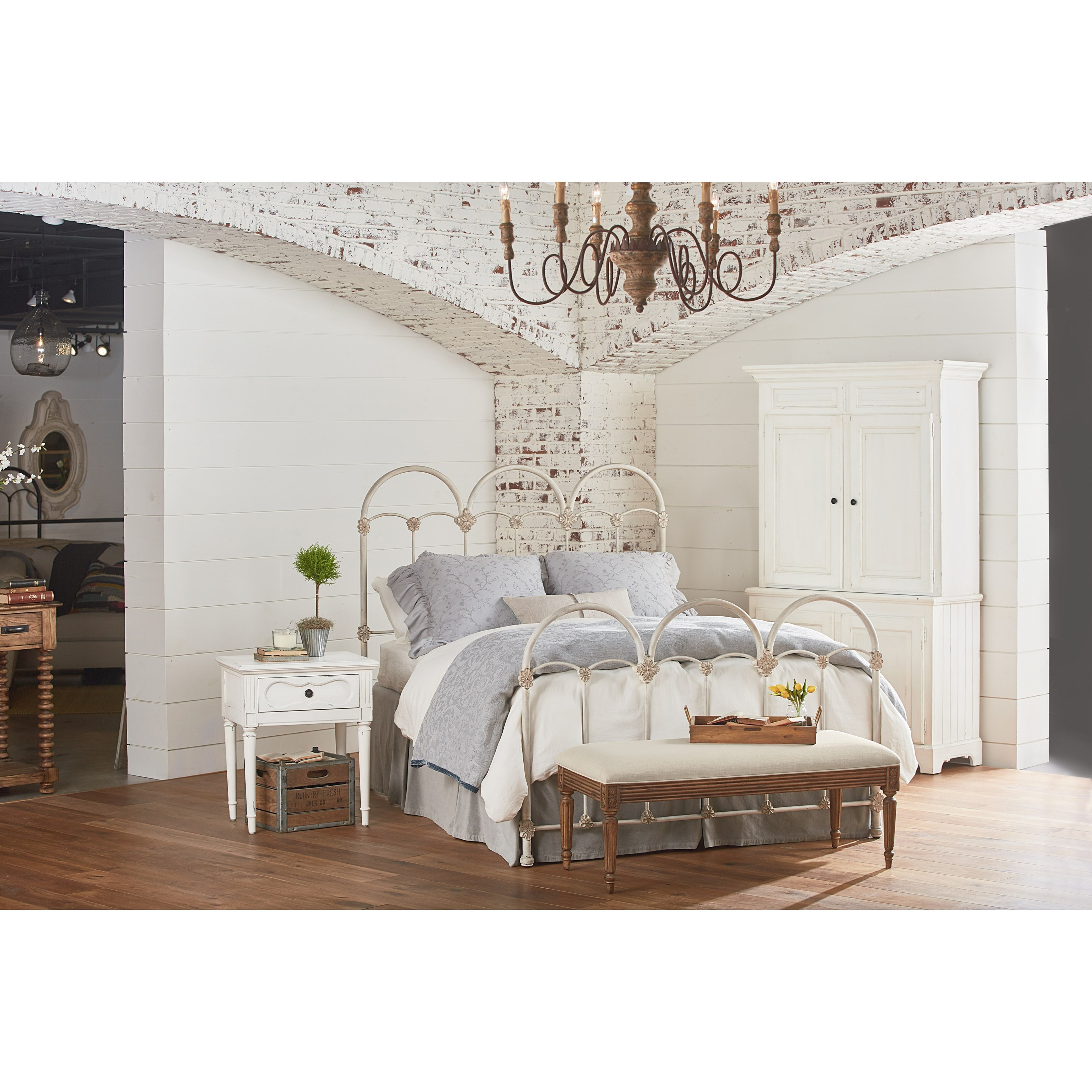 queen rosette iron bed - White Iron Bed Frame Queen