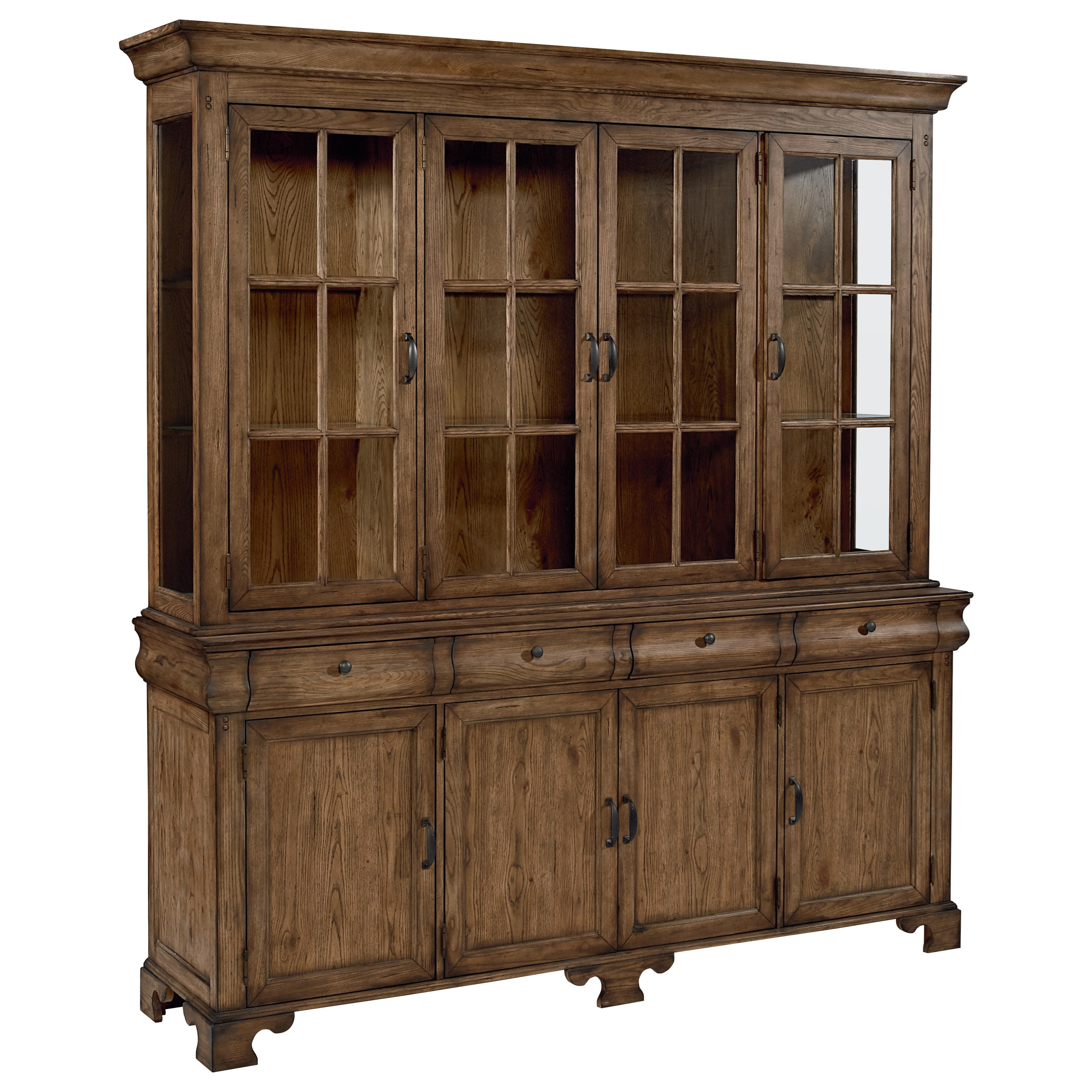 Traditional Buffet with Framed Doors