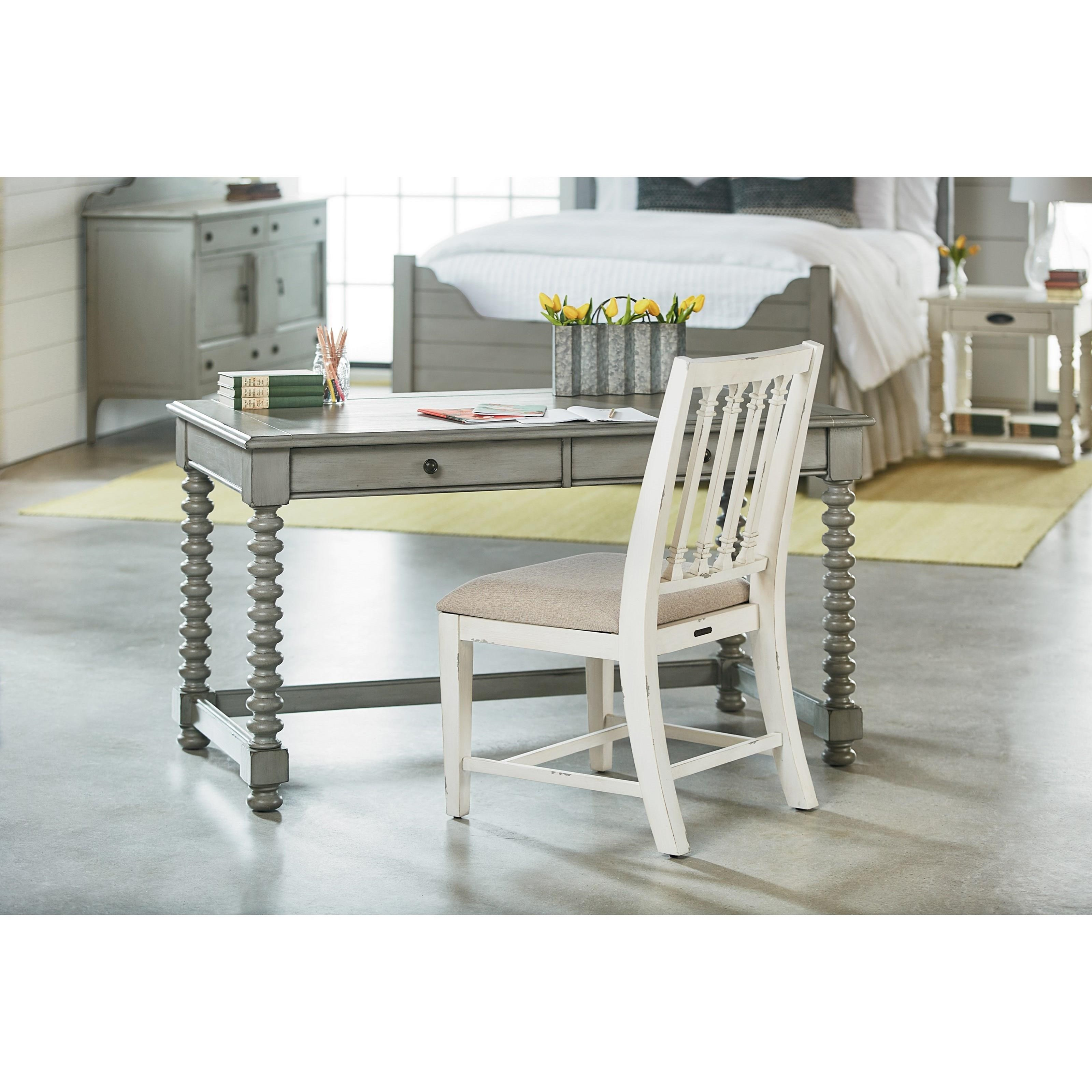 Dove Grey Desk With Spool Legs By Magnolia Home By Joanna