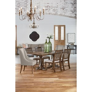 6 pc. Traditional Dining with Revival Chairs