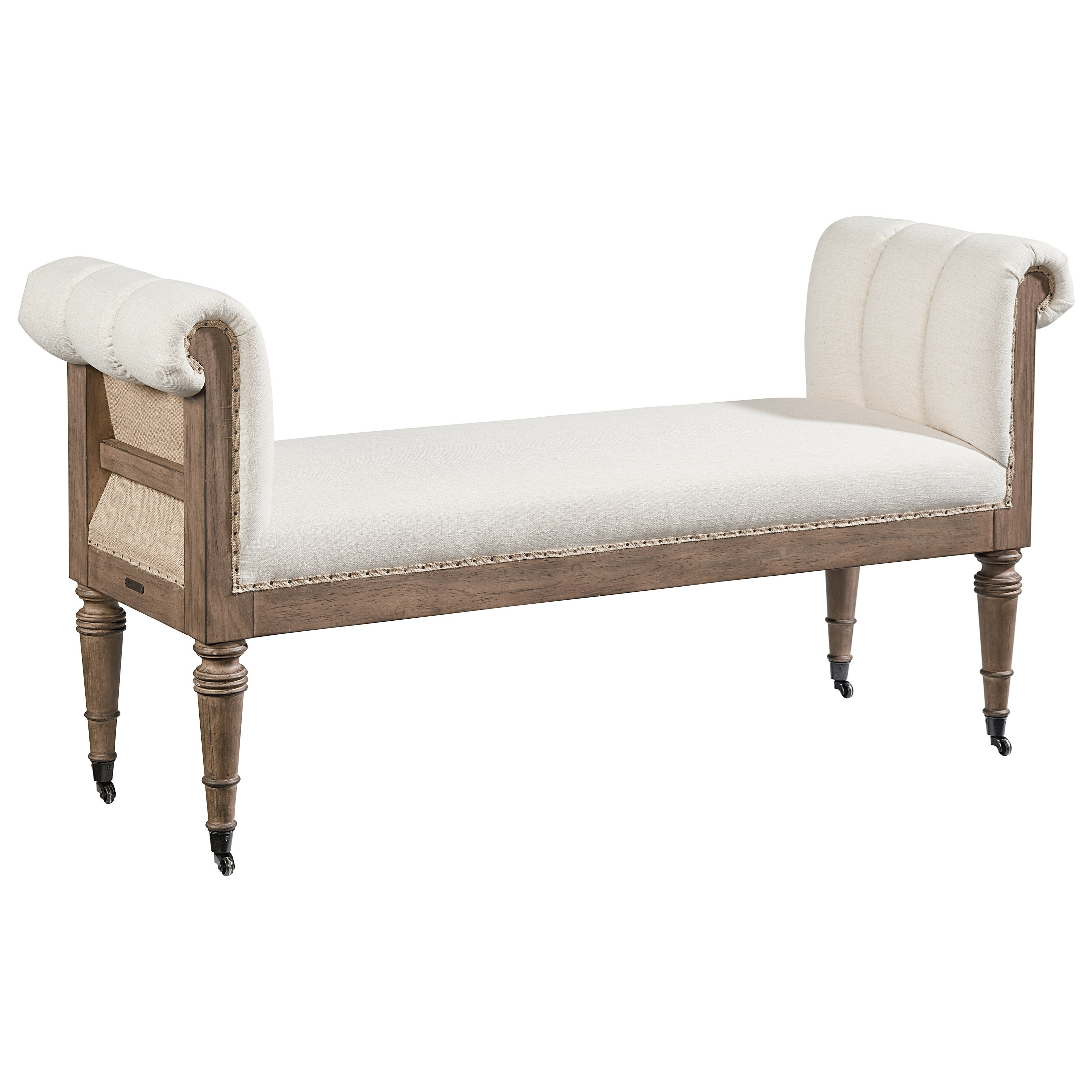 Reveal Bench With Ivory Fabric