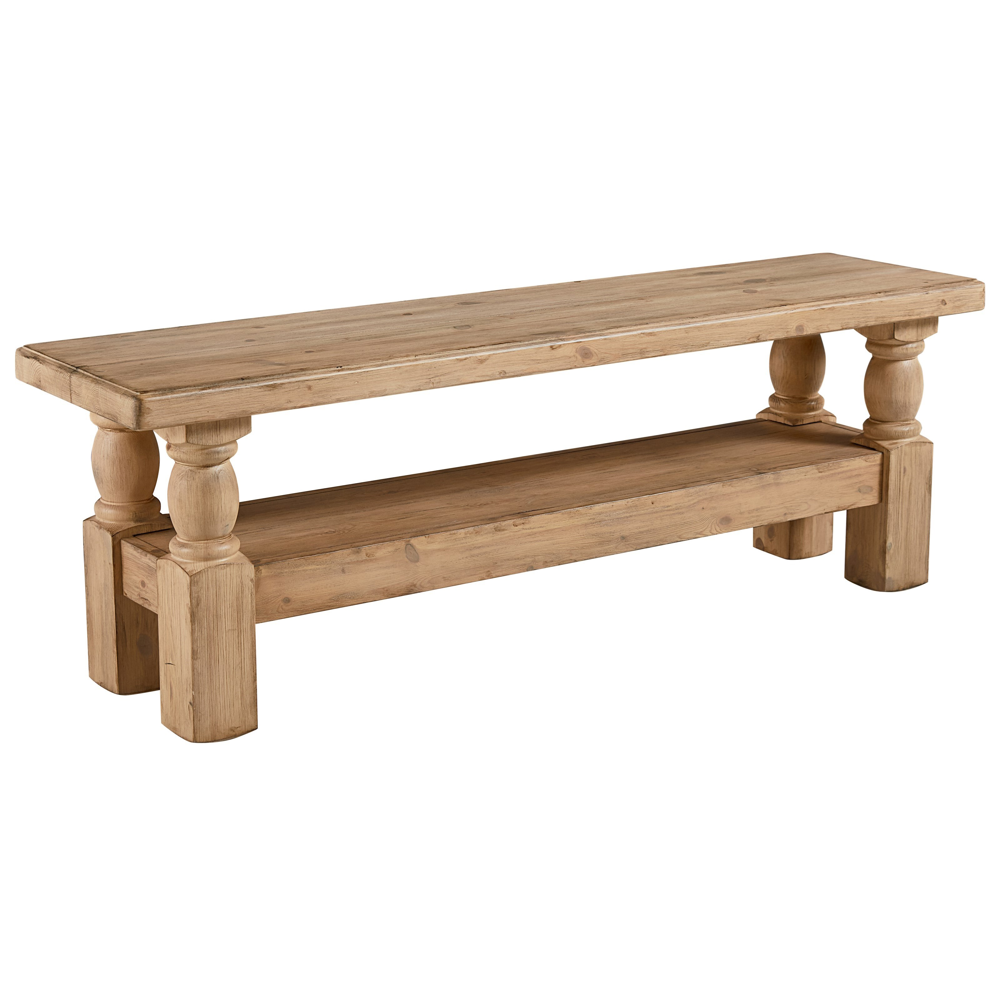 Danish Hall Bench With Wheat Finish