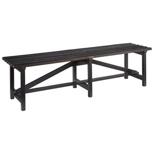 Open Slat Bench with Chimeny Finish