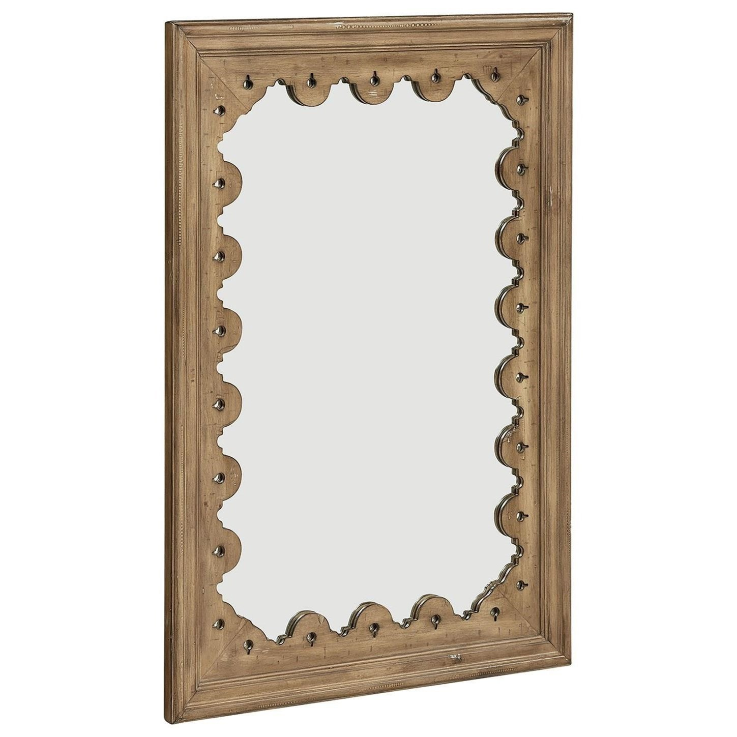 Tracery Wall Mirror with Scalloped Frame by Magnolia Home by Joanna ...