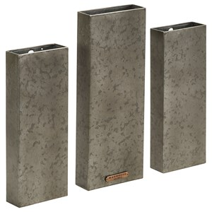 Set of Three Metal Wall Plaques