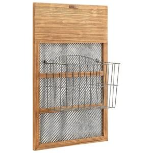 Basket On Wood And Net Frame