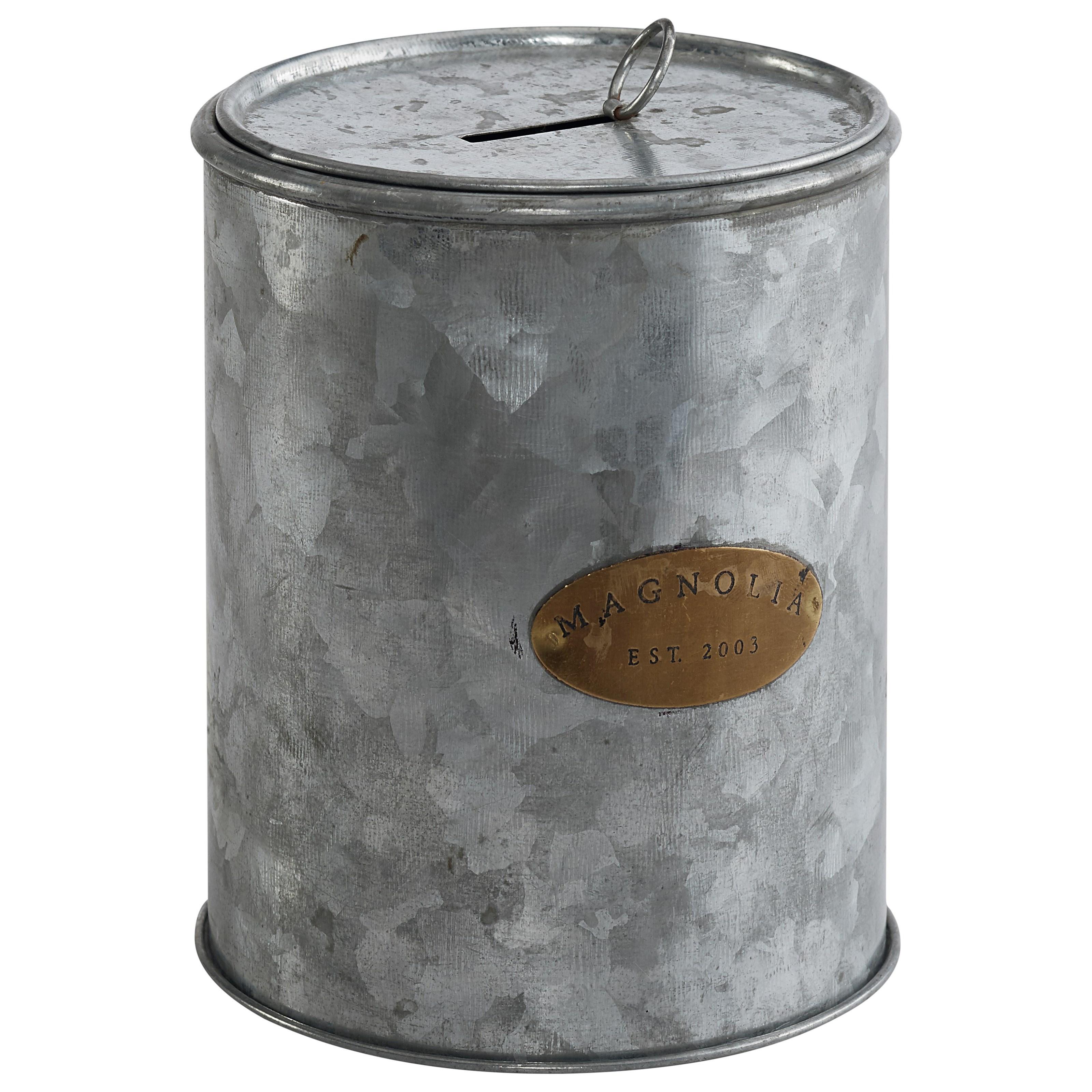 Zinc Finish Furniture Tin Magnolia Petite Coin Canwith Aged Zinc Finish By Magnolia Home